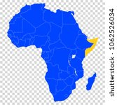 somali. blue. accurate map of... | Shutterstock .eps vector #1062526034