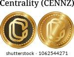 set of physical golden coin... | Shutterstock .eps vector #1062544271