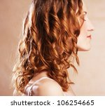 beautiful female curly red... | Shutterstock . vector #106254665