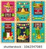 cinco de mayo mexican fiesta... | Shutterstock .eps vector #1062547085