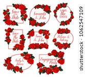 flowers frames and wreath icons ... | Shutterstock .eps vector #1062547109