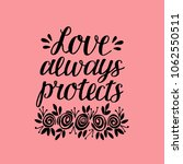 hand lettering love always... | Shutterstock .eps vector #1062550511