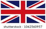 united kingdom flag. flag of... | Shutterstock .eps vector #1062560957