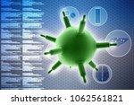 3d rendering viruses in... | Shutterstock . vector #1062561821