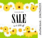spring sale background with... | Shutterstock .eps vector #1062563255