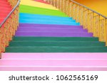 stair with steps painted in... | Shutterstock . vector #1062565169