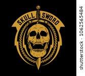 skull and sword | Shutterstock .eps vector #1062565484