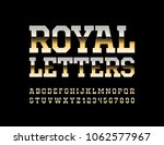 vector royal letters. chic...   Shutterstock .eps vector #1062577967