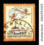 Small photo of MOSCOW, RUSSIA - MARCH 18, 2018: A stamp printed in Austria shows The cruel Rosalia of Forchtenstein, Sages and Legends serie, circa 1997