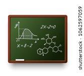 school board and wooden frame... | Shutterstock .eps vector #1062597059