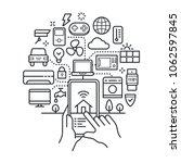 smart home  iot  conceptual... | Shutterstock .eps vector #1062597845