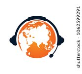 earth podcast logo design... | Shutterstock .eps vector #1062599291