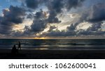 beautiful sunset in the sky for ... | Shutterstock . vector #1062600041