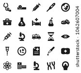 flat vector icon set   atom...   Shutterstock .eps vector #1062607004