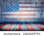 grunge flag on wall. abstract... | Shutterstock . vector #1062609791