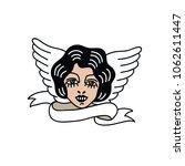 girl illustration traditional... | Shutterstock .eps vector #1062611447