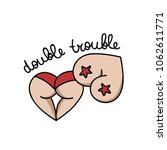 double trouble illustration... | Shutterstock .eps vector #1062611771