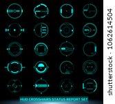 hud futuristic elements... | Shutterstock .eps vector #1062614504