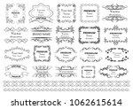 set of vector graphic elements... | Shutterstock .eps vector #1062615614