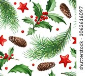 seamless pattern with christmas ... | Shutterstock .eps vector #1062616097