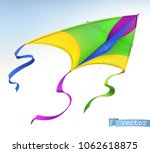 kite  3d vector icon | Shutterstock .eps vector #1062618875