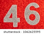 number forty six silver color... | Shutterstock . vector #1062625595