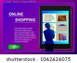 online shopping. sale ... | Shutterstock .eps vector #1062626075