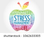 stress management apple word... | Shutterstock . vector #1062633305
