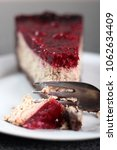 cheesecake with chocolate crumb ... | Shutterstock . vector #1062634409