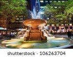 Fountain Bryant Park New York...