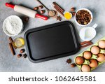 kitchen table with various... | Shutterstock . vector #1062645581
