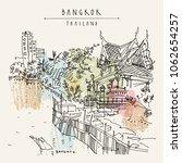 bangkok  thailand. chao phraya... | Shutterstock .eps vector #1062654257