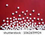 refined sugar cubes on color... | Shutterstock . vector #1062659924