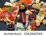 italian meat appetizer snack...   Shutterstock . vector #1062660344