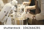 woman on the kitchen near... | Shutterstock . vector #1062666281