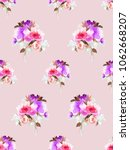 seamless summer pattern.... | Shutterstock . vector #1062668207