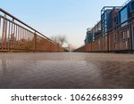 low angle view of iron railing... | Shutterstock . vector #1062668399