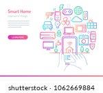 smart home  iot  conceptual... | Shutterstock .eps vector #1062669884