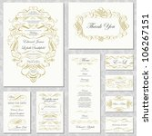 vector gold ornament frame set. ... | Shutterstock .eps vector #106267151