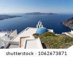 orthodox church overlooking the ...   Shutterstock . vector #1062673871
