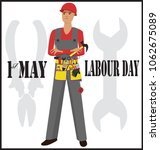 1st of may. working. labor day | Shutterstock .eps vector #1062675089