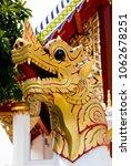 wat pan ping in chiang mai... | Shutterstock . vector #1062678251