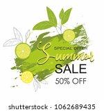 grunge brush green paint...   Shutterstock .eps vector #1062689435