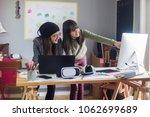 teenage girls entrepreneurs   Shutterstock . vector #1062699689