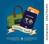 holiday travel banner or poster ... | Shutterstock .eps vector #1062701441