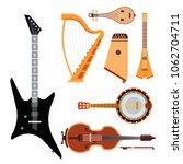 set of stringed musical... | Shutterstock .eps vector #1062704711