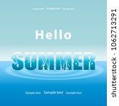 summer background  blue sea... | Shutterstock .eps vector #1062713291