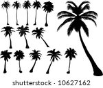 vector tropical palms and trees | Shutterstock .eps vector #10627162