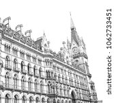 old architecture in london... | Shutterstock . vector #1062733451