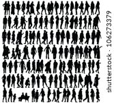 people silhouette black vector... | Shutterstock .eps vector #106273379